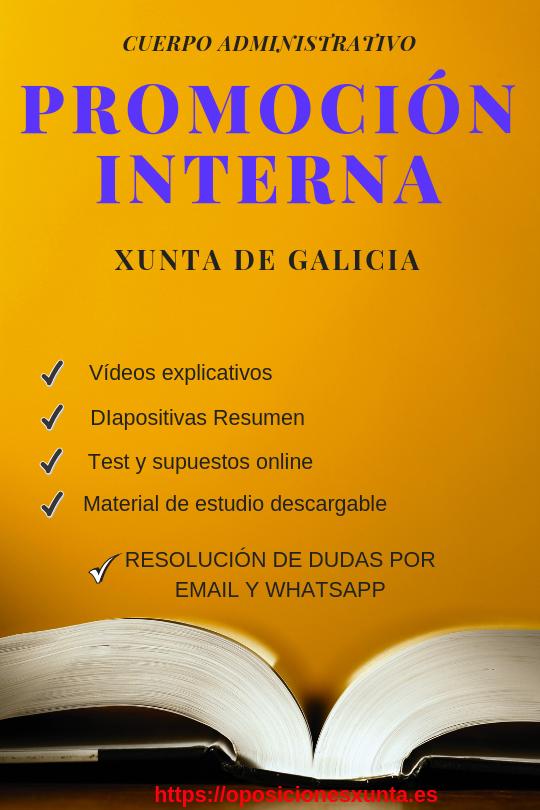 administrativo promoción interna xunta de galicia